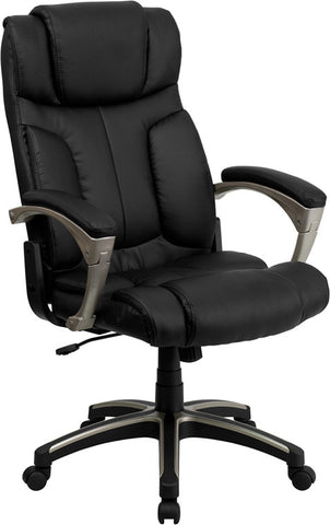 Flash Furniture BT-9875H-GG High Back Folding Black Leather Executive Office Chair - Peazz.com
