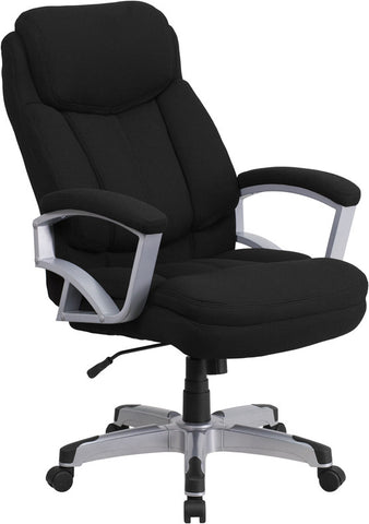 Flash Furniture GO-1850-1-FAB-GG HERCULES Series 500 lb. Capacity Big & Tall Black Fabric Executive Office Chair - Peazz.com