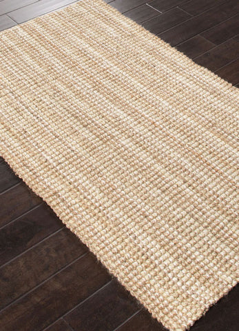 Jaipur Rugs RUG112586 Naturals Textured Jute Ivory/Taupe Area Rug ( 3x5 ) - Peazz.com