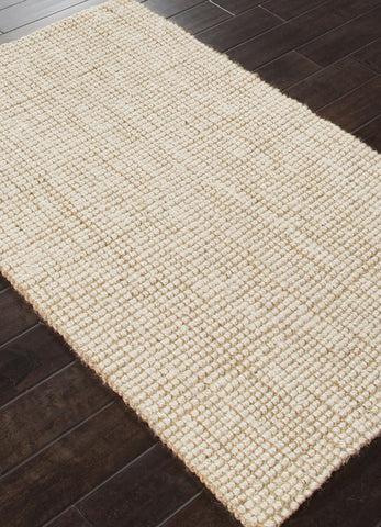 Jaipur Rugs RUG112587 Naturals Textured Jute Ivory/White Area Rug ( 3x5 ) - Peazz.com