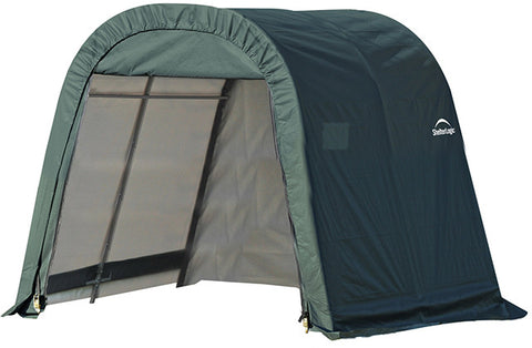 ShelterLogic 76804 8x8x8 ft.  Round Style Shelter- Green - Peazz.com