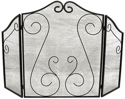 ShelterLogic 90394 Hearth Accessories Fireplace Scrollwork Screen - Peazz.com