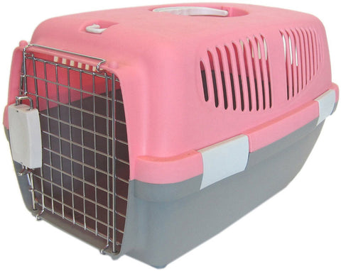 YML Group Z100S-PK Small Plastic Carrier for Small Animal, Pink - Peazz.com