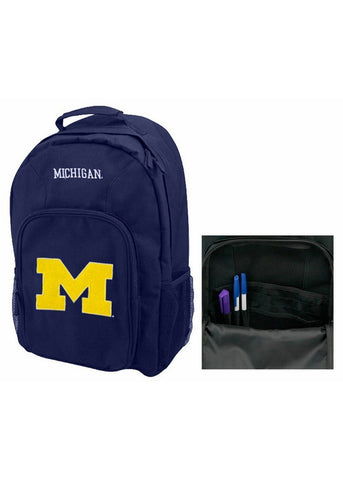 Southpaw Navy Michigan Wolverines Backpack - Peazz.com