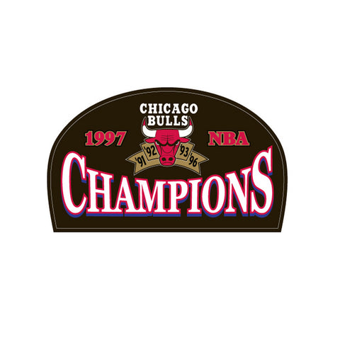 Logo Patch - Chicago Bulls 1997 Champions - Peazz.com
