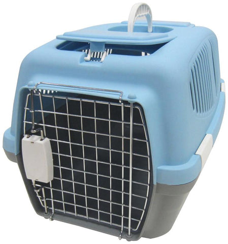 YML Group Z100M-BL Medium Plastic Carrier for Small Animal, Blue - Peazz Pet