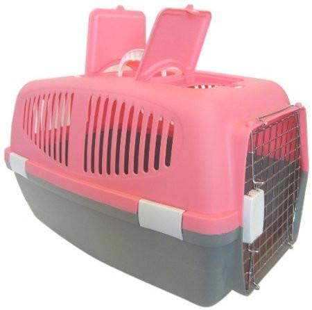 YML Group Z100M-PK Medium Plastic Carrier for Small Animal, Pink - Peazz Pet