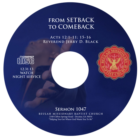 1047 From Setback to Comeback (CD)
