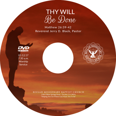 Sermon 1148 Thy Will Be Done (CD)