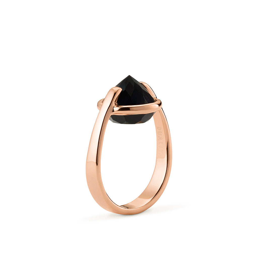 Vigor - 9 Ct Black Onyx Polished Rose Gold Ring