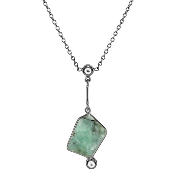 Lyja - Emerald Gunmetal Only Necklace