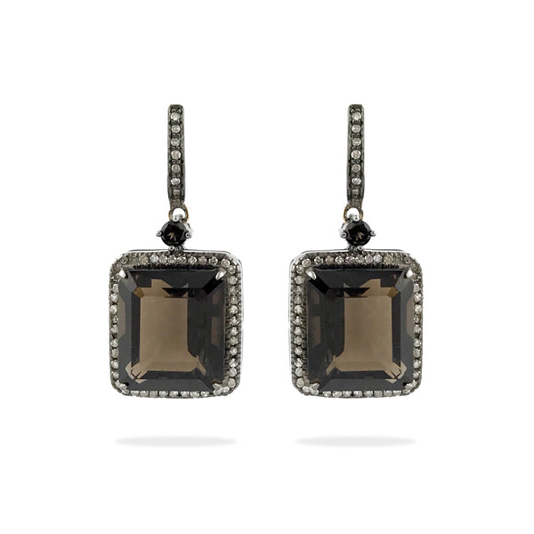 Emma - Smokey Topaz Earrings