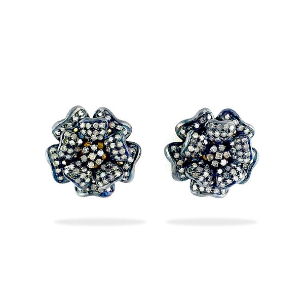 Rosette - Diamond Stud Earrings