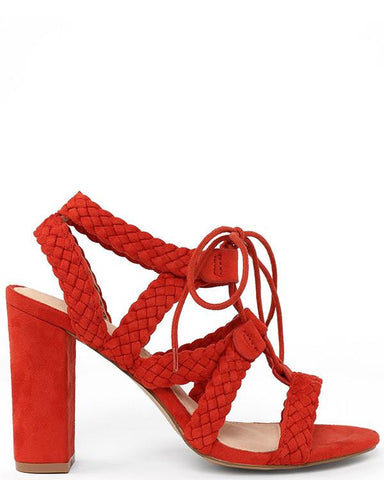 Braided Straps Wedge Heel Sandals - Jezzelle
