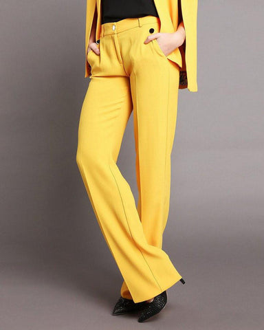 Yellow Smart Trousers-Jezzelle