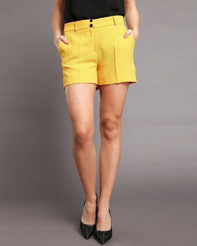 Yellow Smart Shorts-Jezzelle