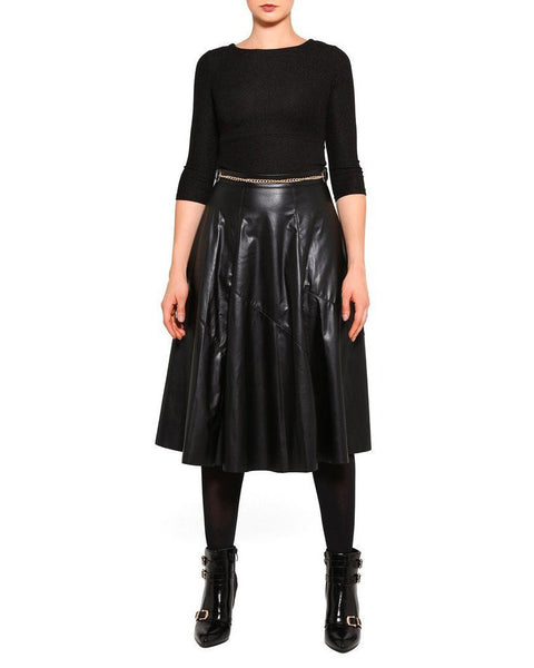 Faux Leather Maxi Skirt - Jezzelle