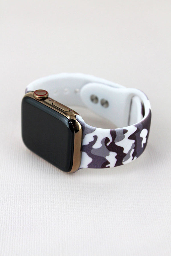 Gray Camo Adjustable Band for Apple Watch