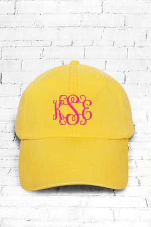Washed Lemon Baseball Cap