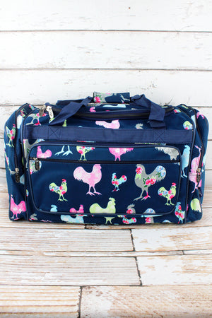 Rosy Roosters Duffle Bag 23""