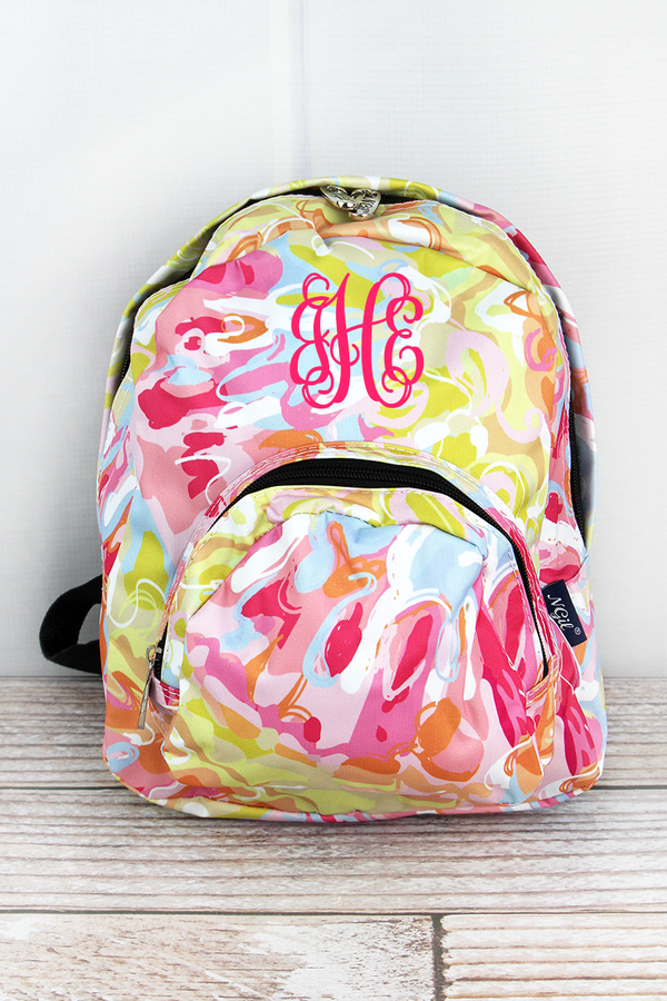 Watercolor Splash Small Backpack