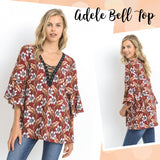 ADELE Bell Laced-Up Top WITH POCKETS!!!