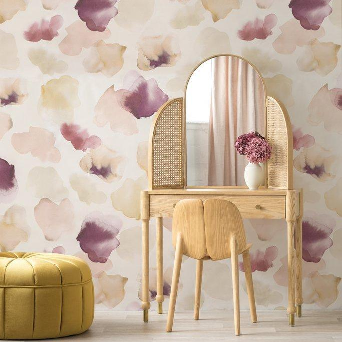 Petals Pressed Blush Wallpaper