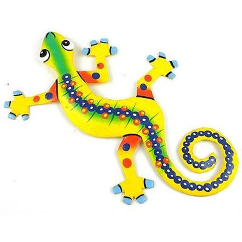 Eight Inch Snake Back Metal Gecko - Caribbean Craft