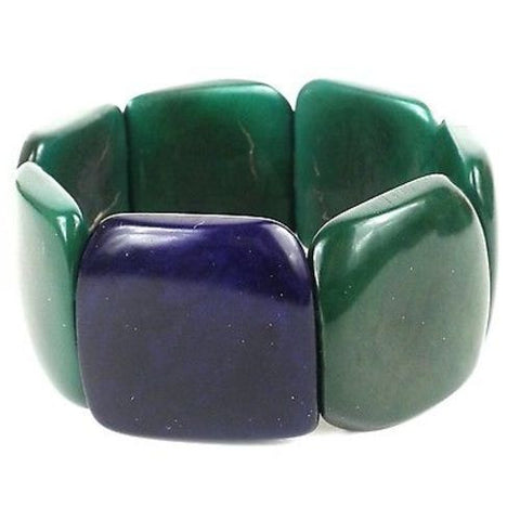 Accented Tagua Bracelet Hunter Green - Faire Collection