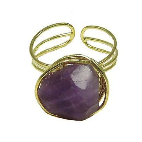 Agate Chunk Statement Ring in Plum - WorldFinds
