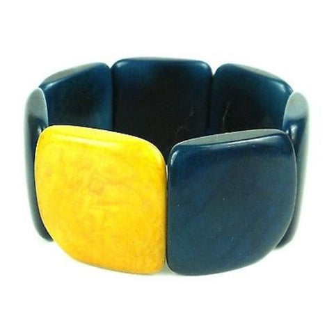 Accented Tagua Bracelet Midnight - Faire Collection