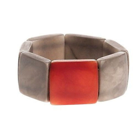 Accented Tagua Bracelet Soft Gray - Faire Collection