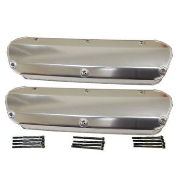 DEMOTOR Fabricated Aluminum Valve Covers for SBF Ford 5.0L Mustang 289 302 351W
