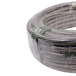 10 Feet 10-AN Braided Stainless Steel Turbo Oil Fuel Gas Line Hose 1500 PSI