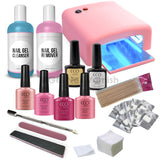 CCO Deluxe Pink Kit - Pink UV Lamp - Gel Nail Varnish