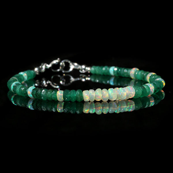 emerald and opal bracelet