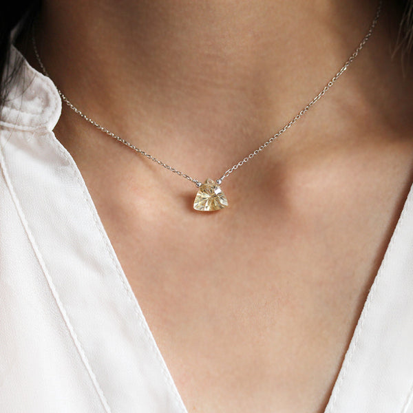 Modern Citrine Necklace