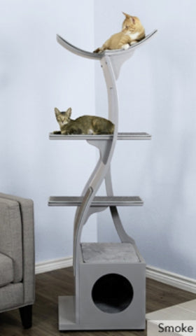 Cat Tree Lotus™  - Styled for the Design Conscious Cat Lover's Cat.  Now in Smoke!