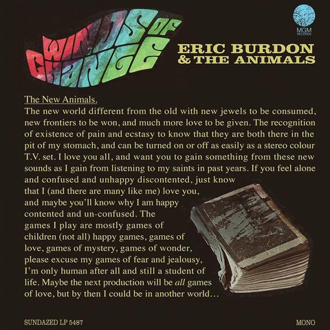 Eric Burdon And The Animals - Winds Of Change Colored Vinyl LP