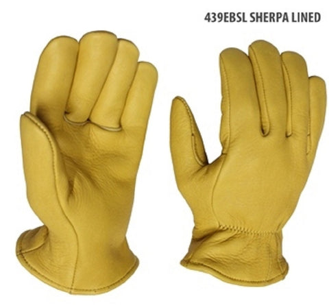 Superior Elkskin Leather Gloves - Sherpa Lining - Cowboy Hats and More