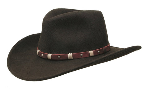 Black Creek Crushable Wool Brisbane Outback Hat - Cowboy Hats and More