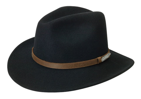 Black Creek Around Town Crushable Wool Fedora - Cowboy Hats and More  - 1