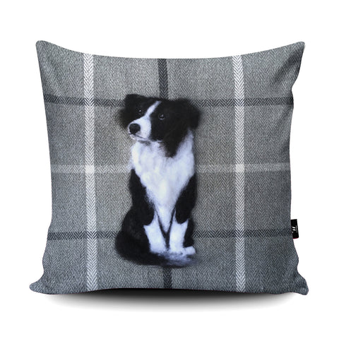 Border Collie SA14U Cushion by Sharon Salt
