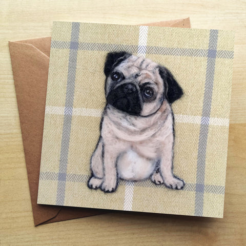 Pug SA11G Greetings Card by Sharon Salt