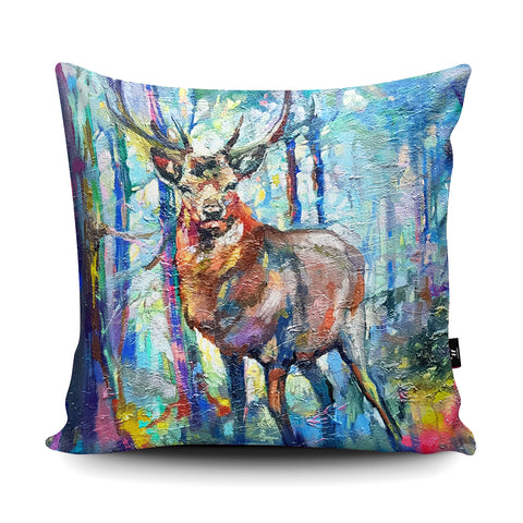 Mystic Stag SG11U Cushion by Sue Gardner