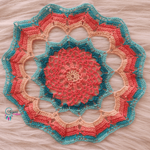 Handmade Multicolour 9.5 inches mercerised cotton crochet doilies