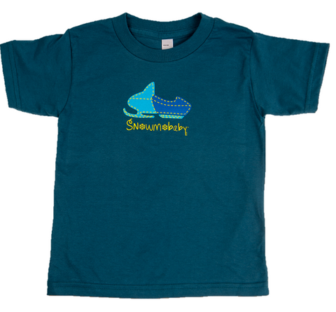 Classic Snowmobaby Organic Toddler Tee - Galaxy Blue