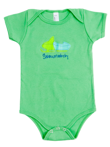 Classic Snowmobaby Infant Onesie - Grass Green