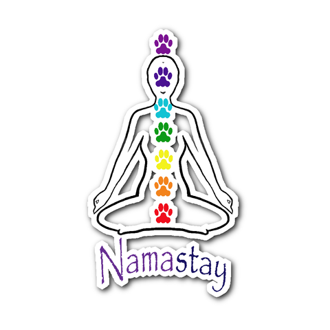 Ladies Namastay Sticker