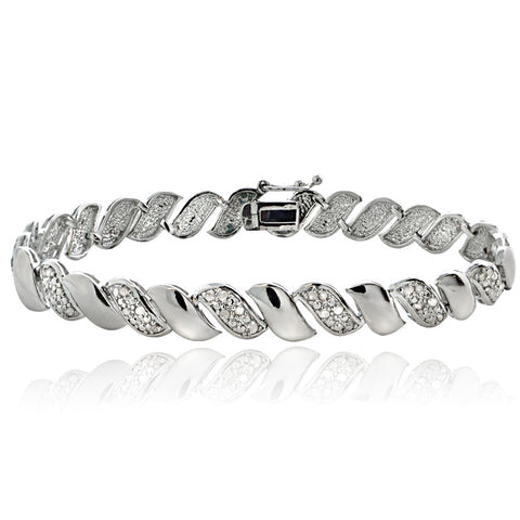 0.10ct TDW Diamond San Marco Bracelet